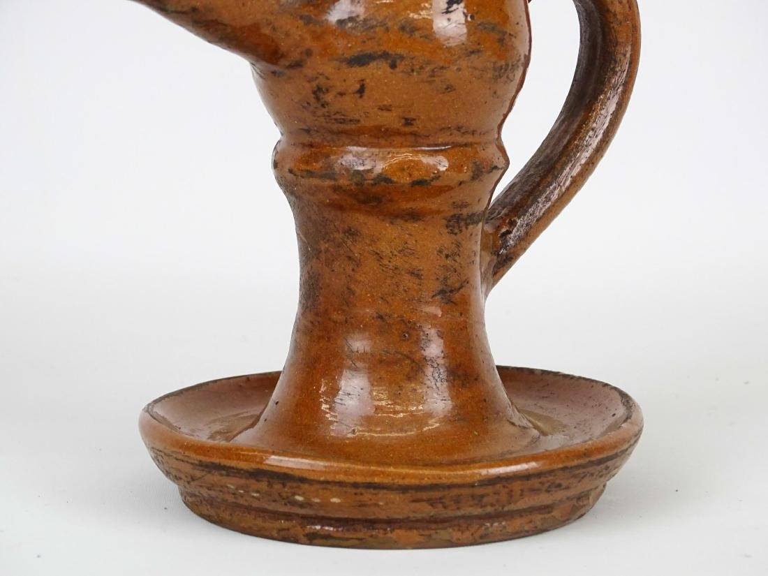 Redware Oil Lamp - 3