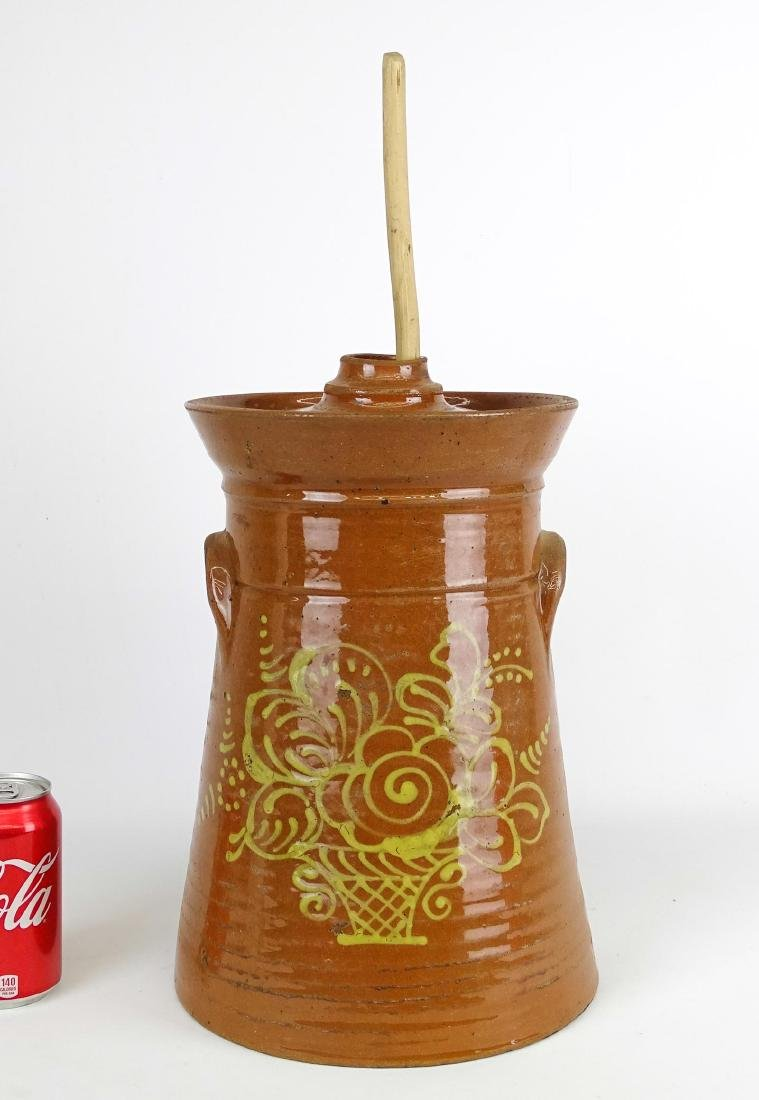 Redware Butter Churn