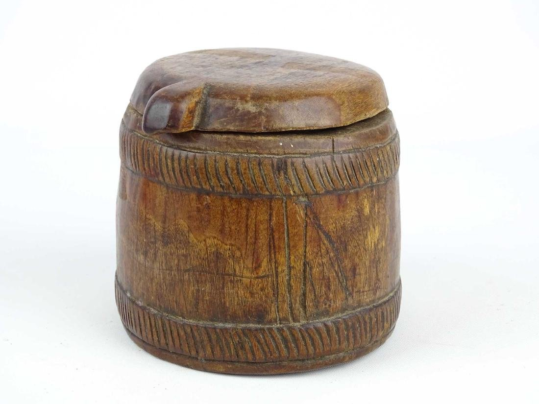 Carved Wooden Container - 2