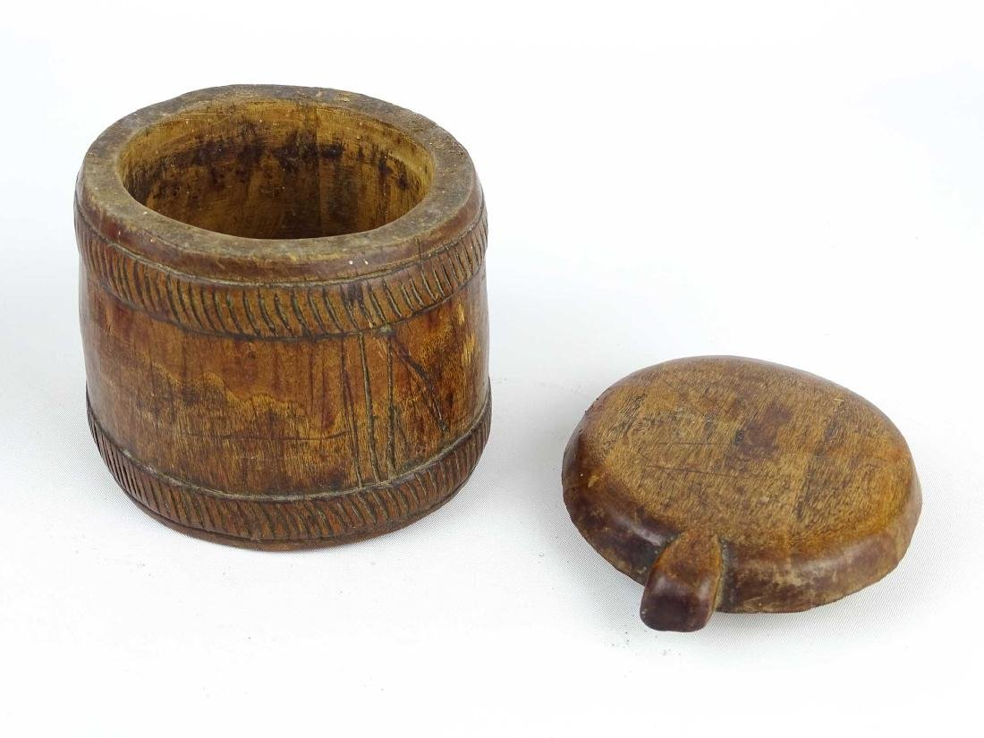 Carved Wooden Container - 3
