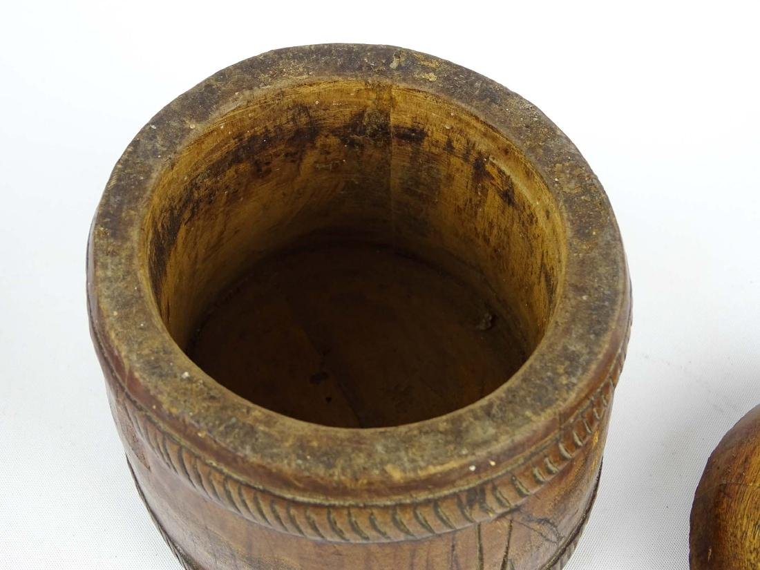 Carved Wooden Container - 4
