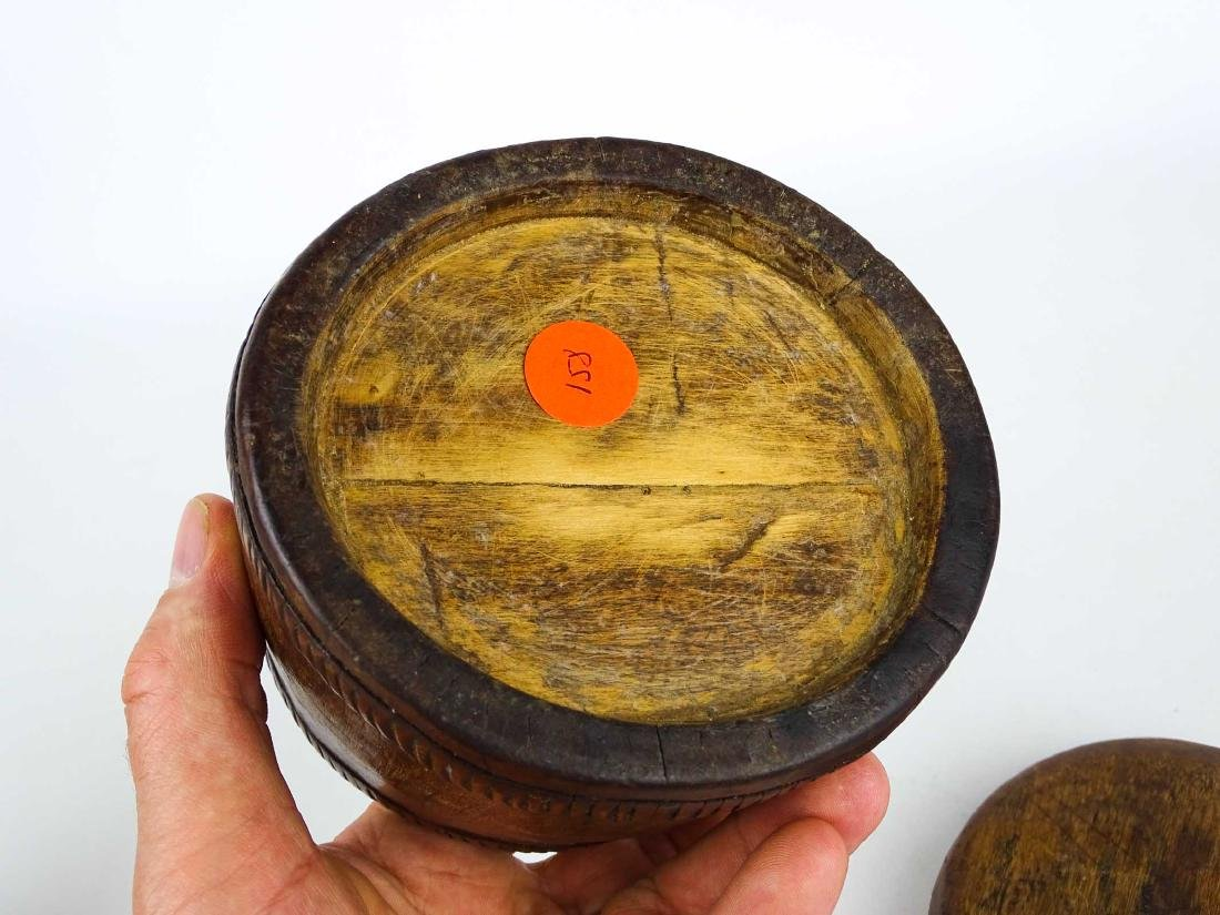 Carved Wooden Container - 5