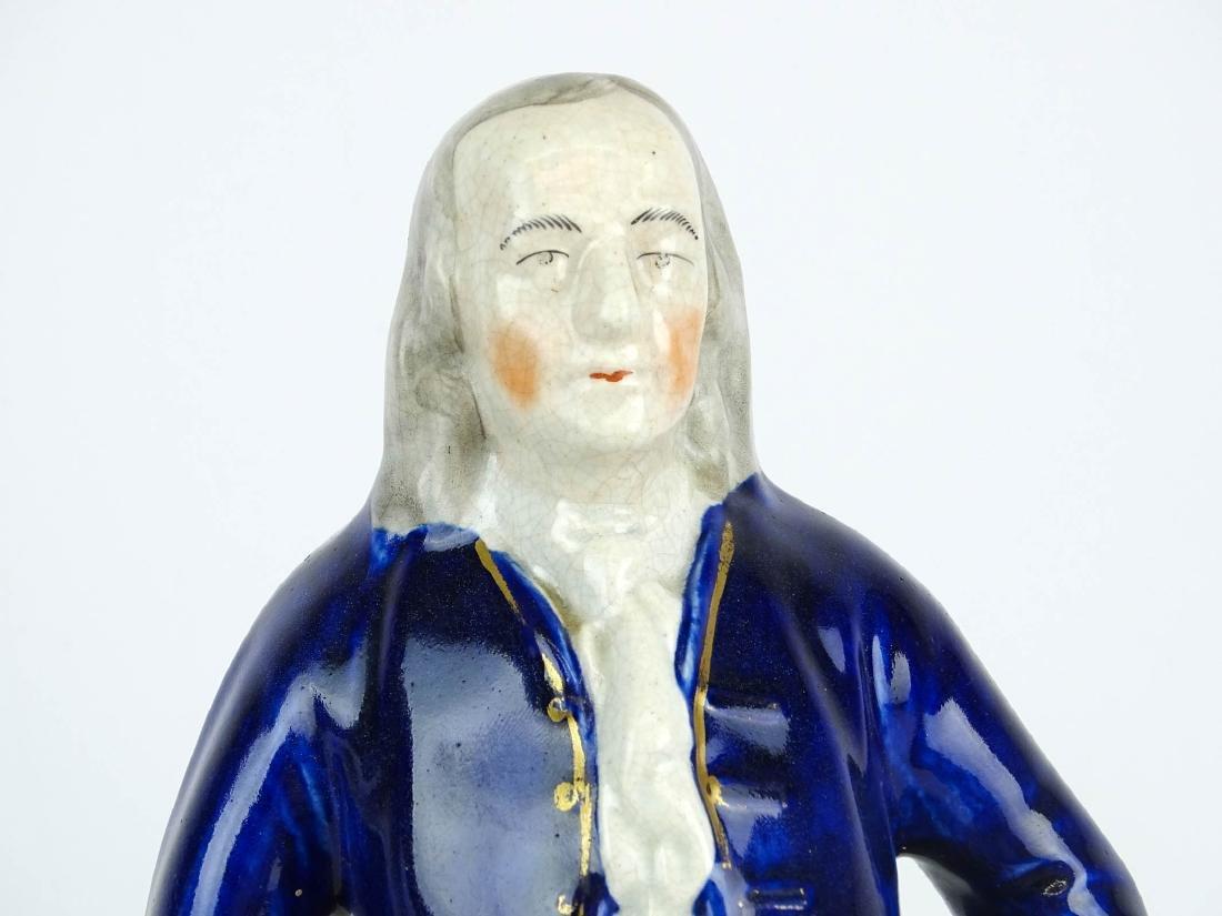 19th c. Ben Franklin Staffordshire Figure - 2