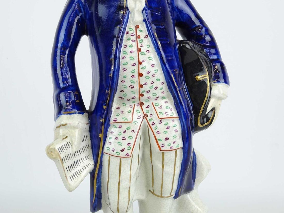 19th c. Ben Franklin Staffordshire Figure - 3