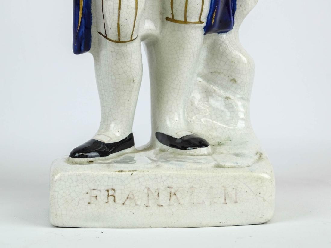 19th c. Ben Franklin Staffordshire Figure - 4
