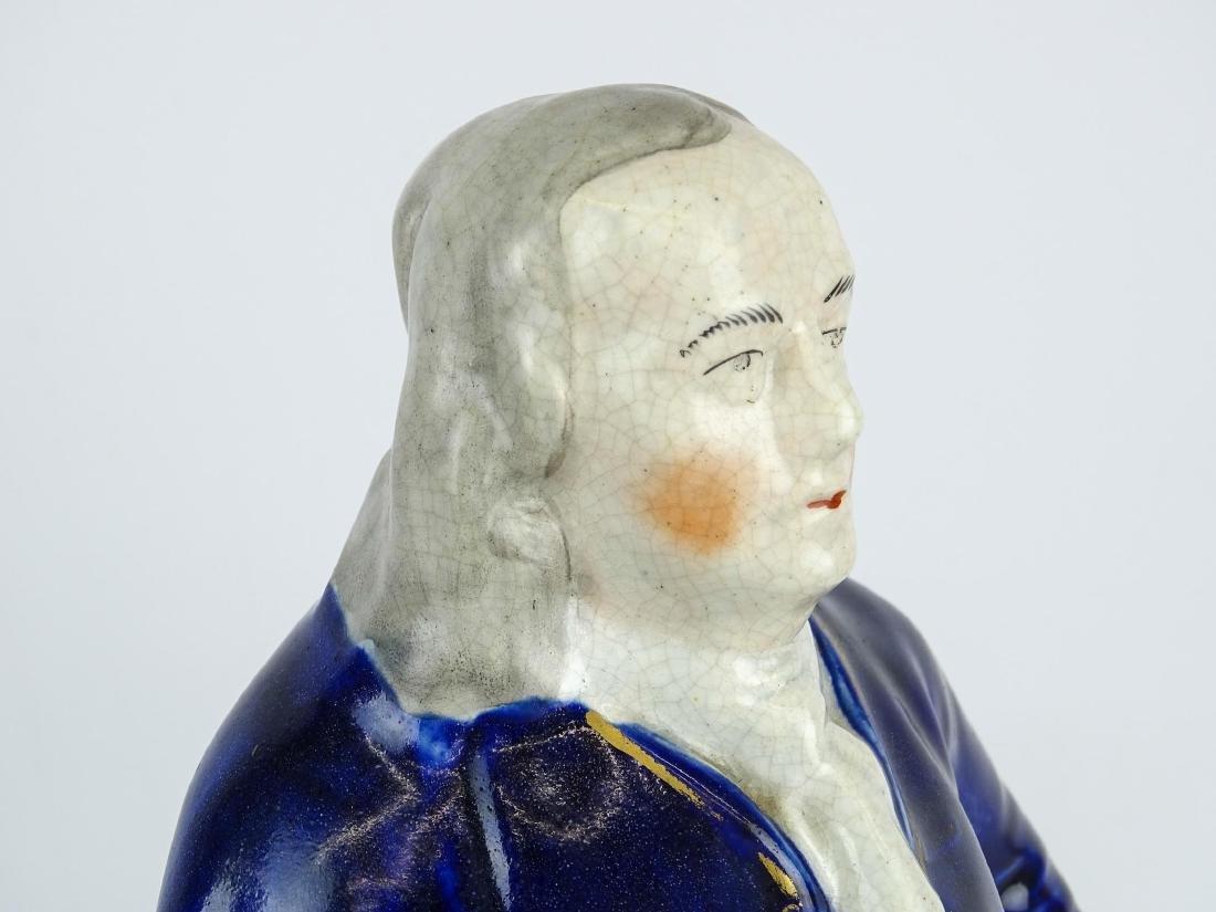 19th c. Ben Franklin Staffordshire Figure - 6
