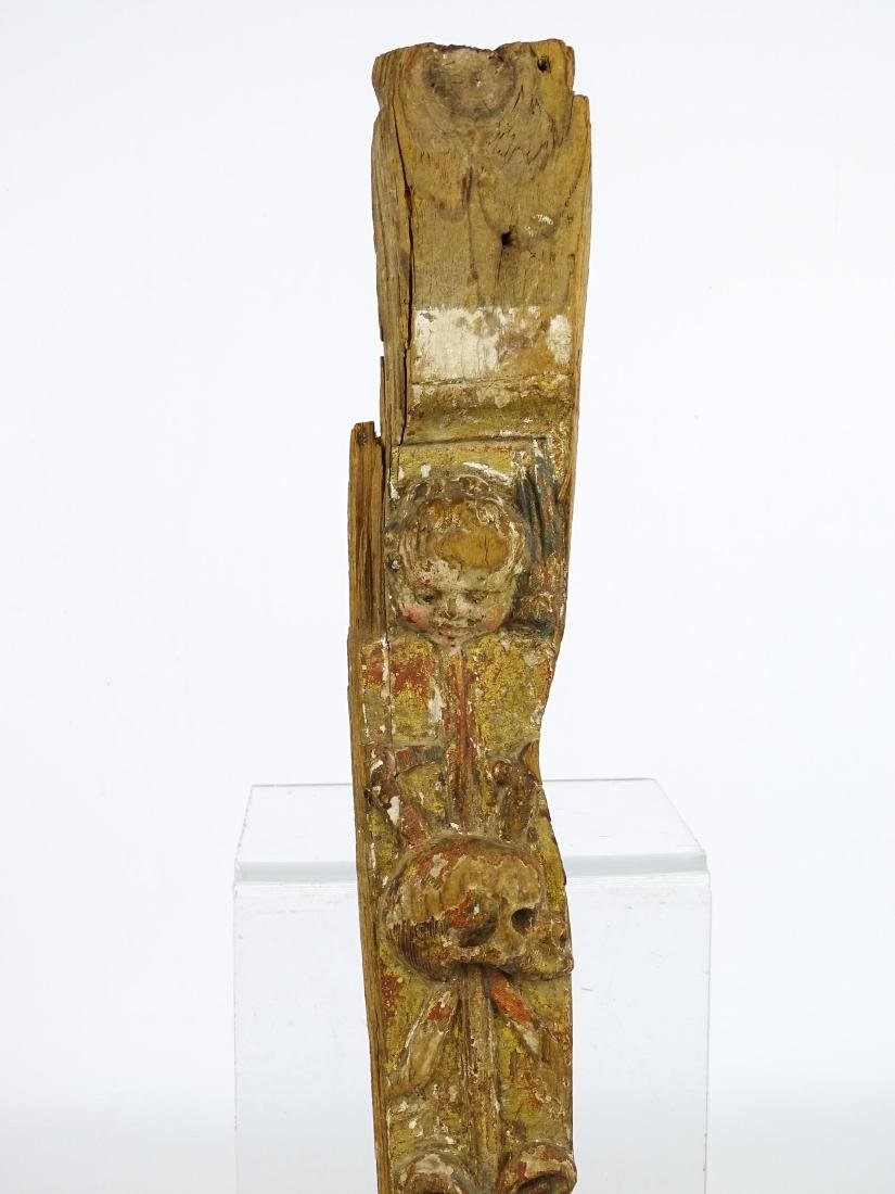 Early Carved Wooden Remnant - 2