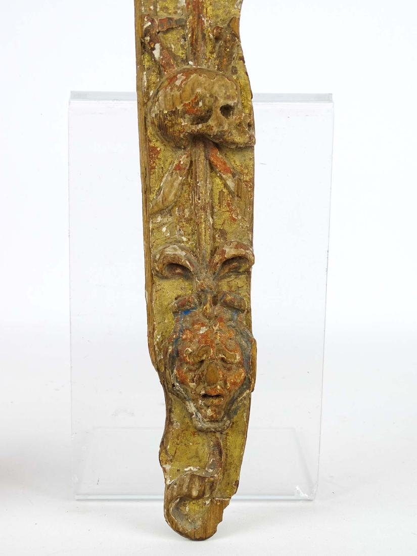 Early Carved Wooden Remnant - 3