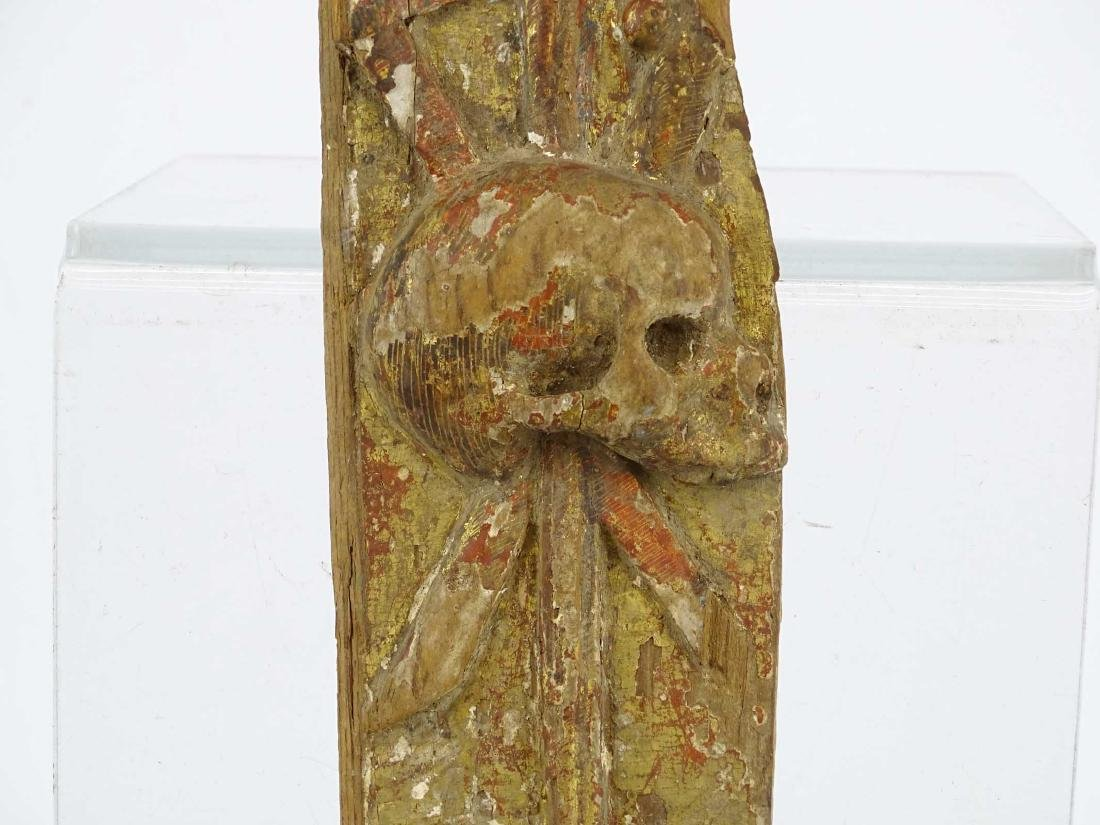 Early Carved Wooden Remnant - 4