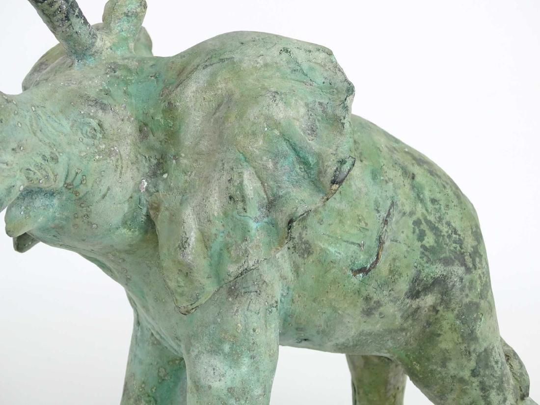 Bronze Elephant Sculpture - 4