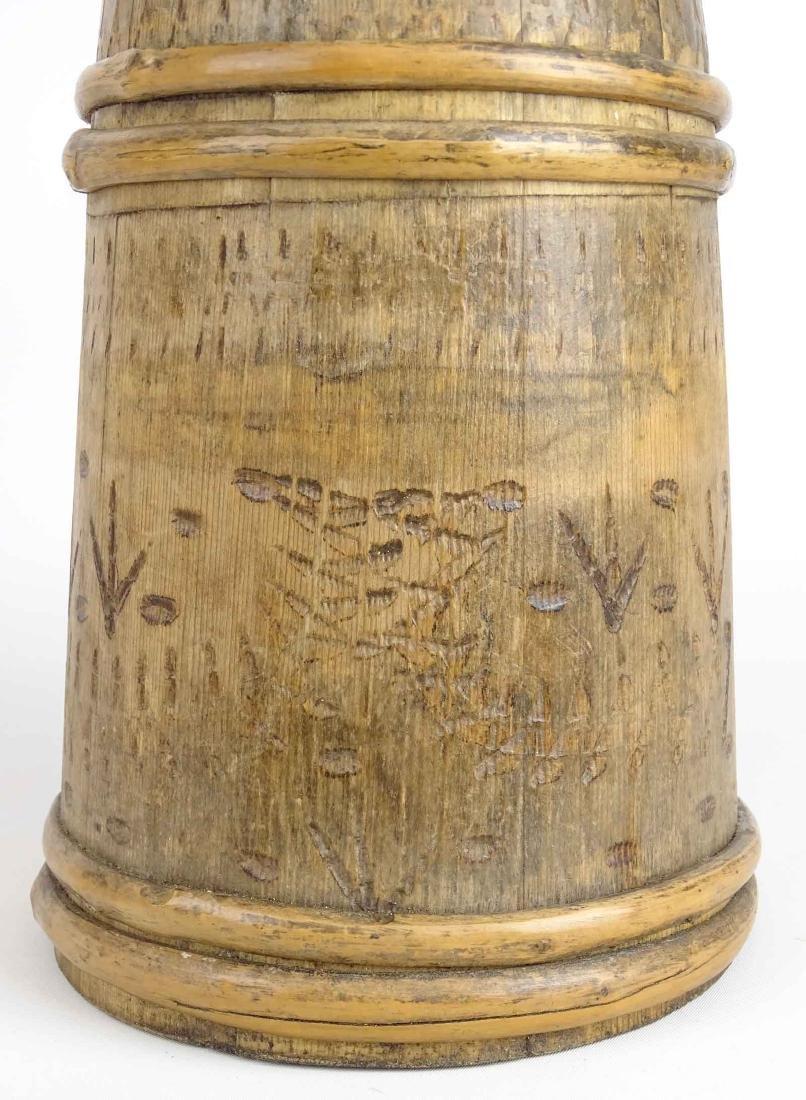 19th c. Wooden Tankard - 2