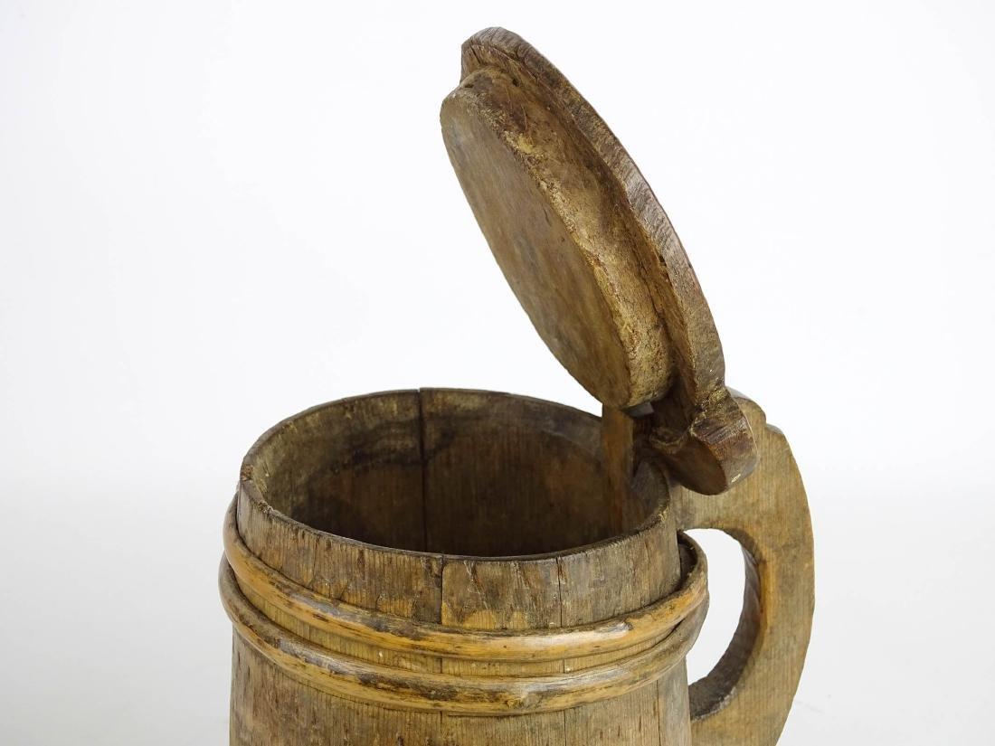 19th c. Wooden Tankard - 3