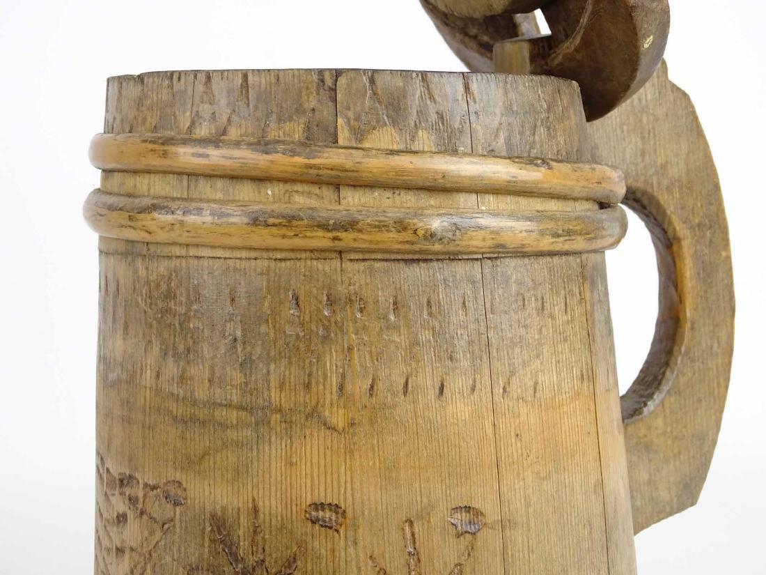 19th c. Wooden Tankard - 4