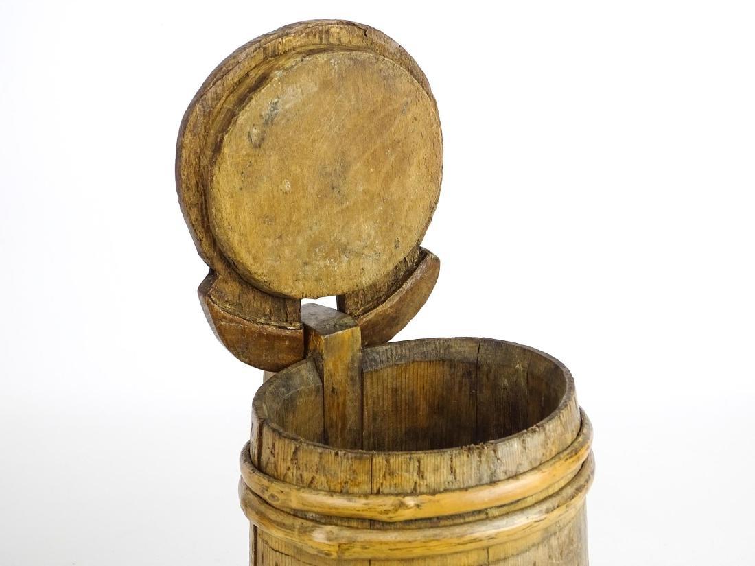 19th c. Wooden Tankard - 5