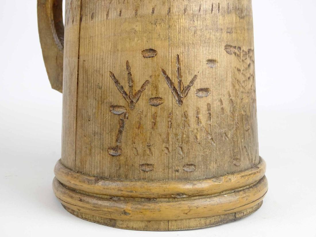 19th c. Wooden Tankard - 6