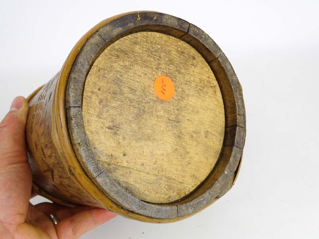 19th c. Wooden Tankard - 7