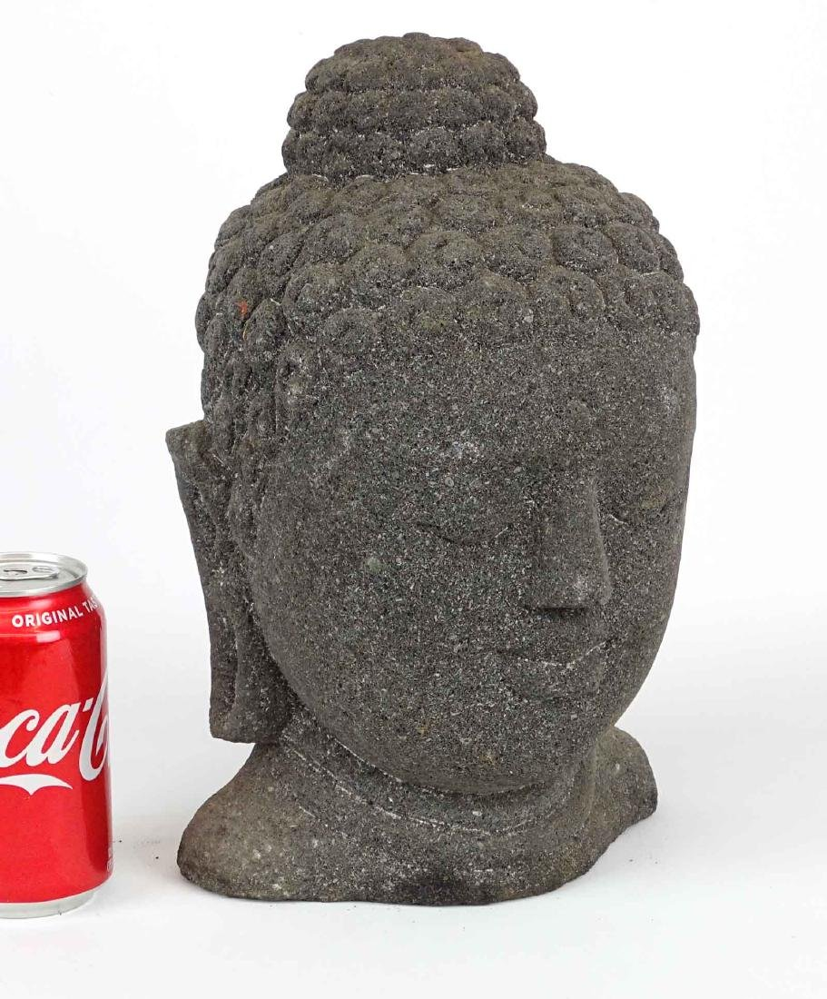 Lava Stone Buddha Head