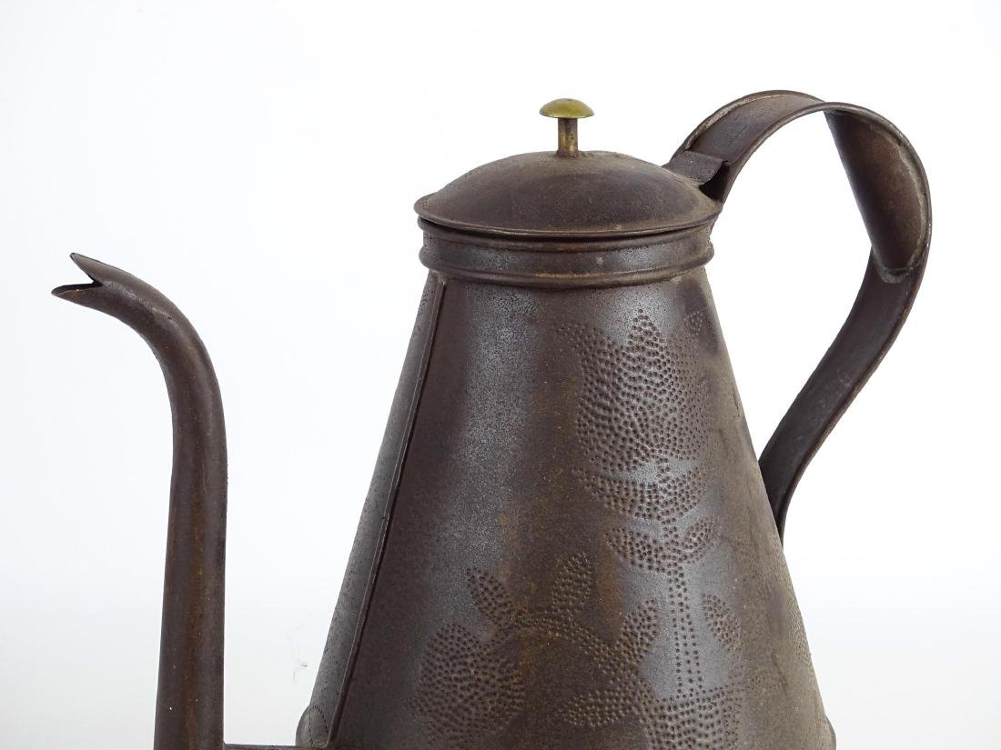 Punched Tin Teapot - 2