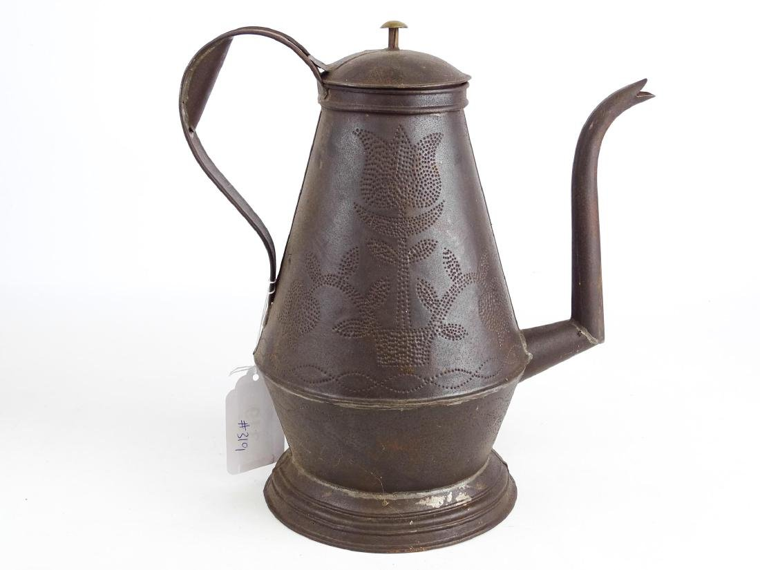 Punched Tin Teapot - 4