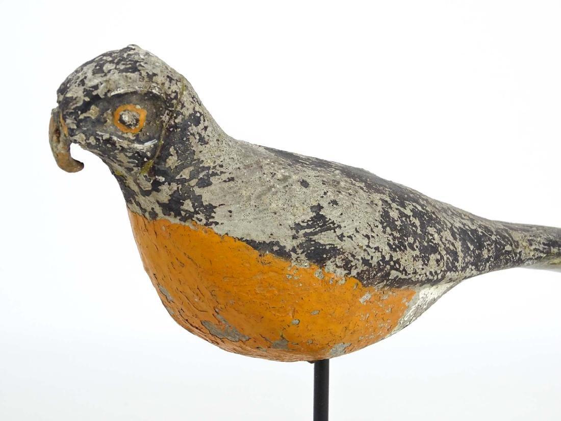 Carved Stone Folk Art Bird - 2