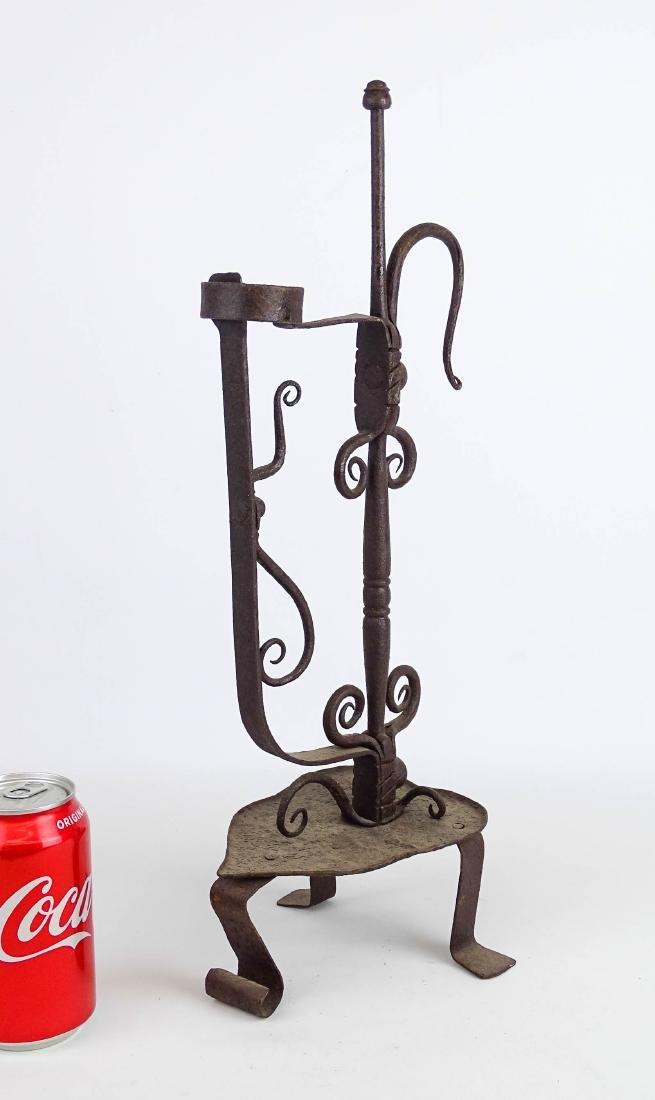 Ornate Iron Candleholder