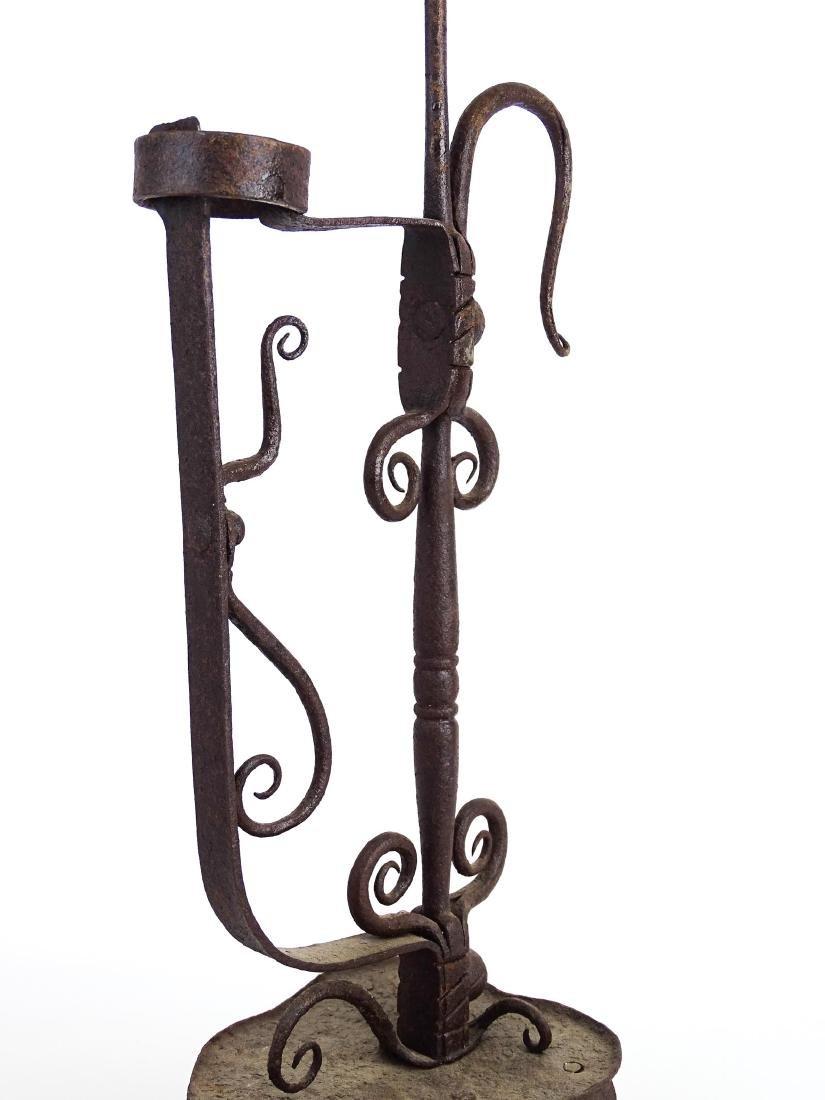 Ornate Iron Candleholder - 3