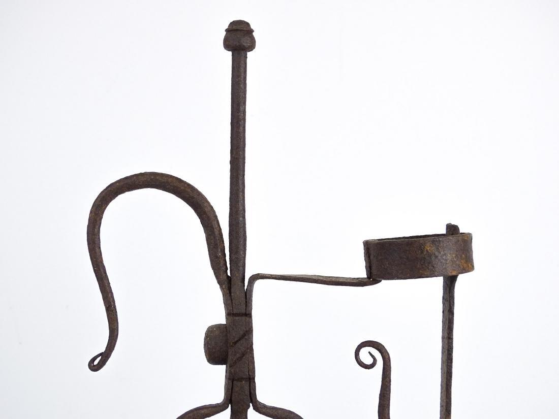 Ornate Iron Candleholder - 5