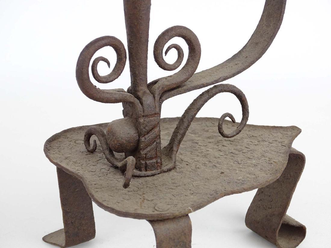 Ornate Iron Candleholder - 6