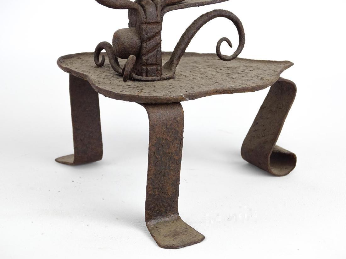 Ornate Iron Candleholder - 7