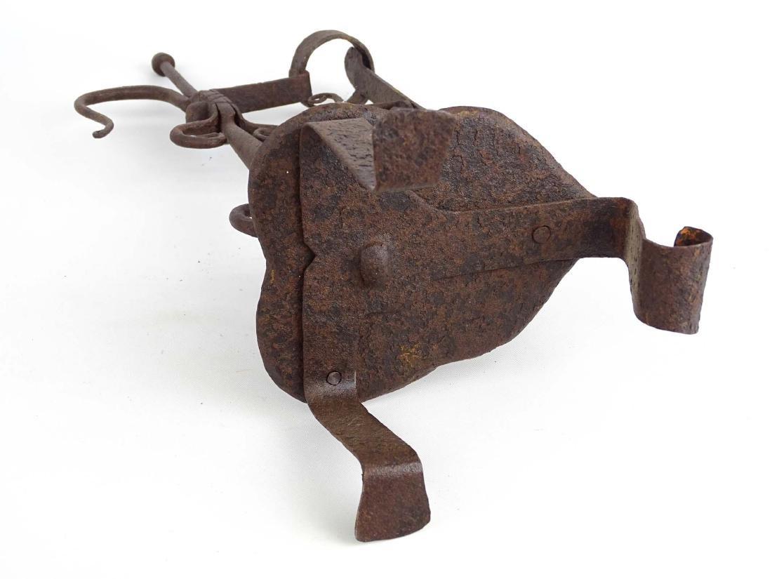 Ornate Iron Candleholder - 8