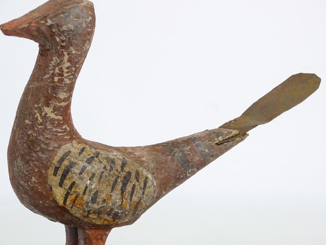 Folk Art Carved Bird - 3
