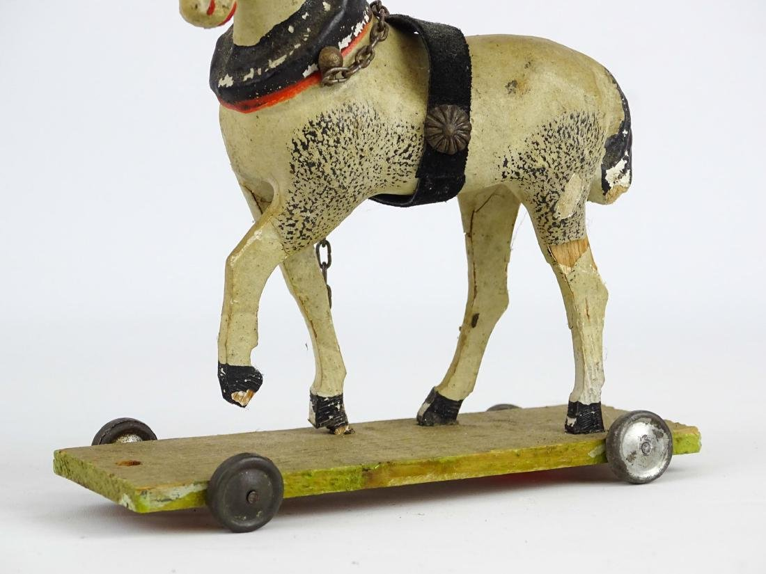 Composition Horse Pull Toy - 4