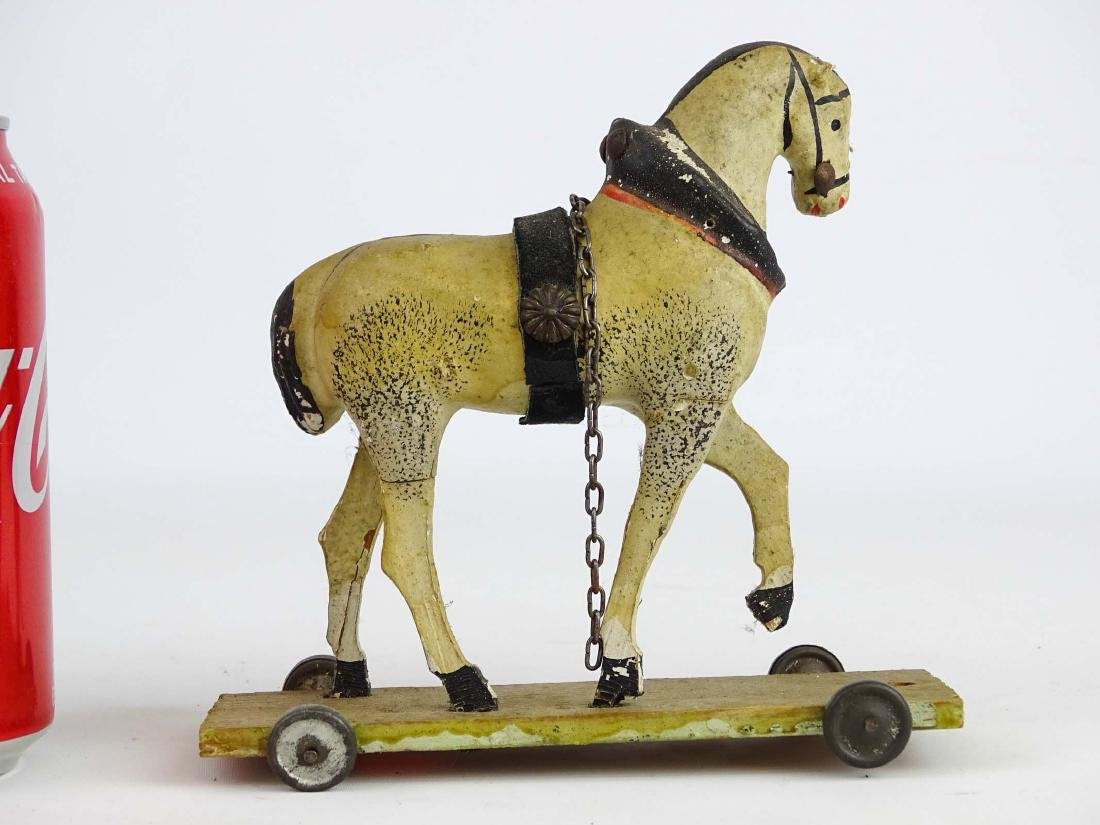 Composition Horse Pull Toy - 5