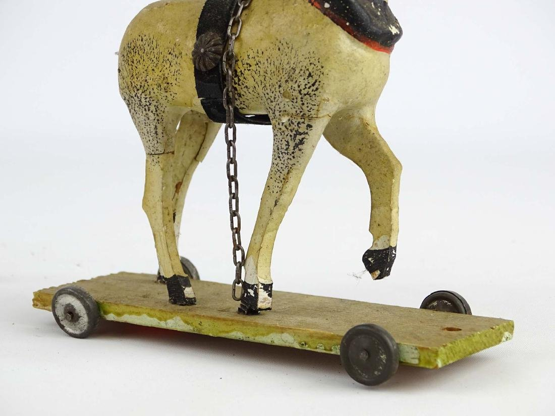 Composition Horse Pull Toy - 7
