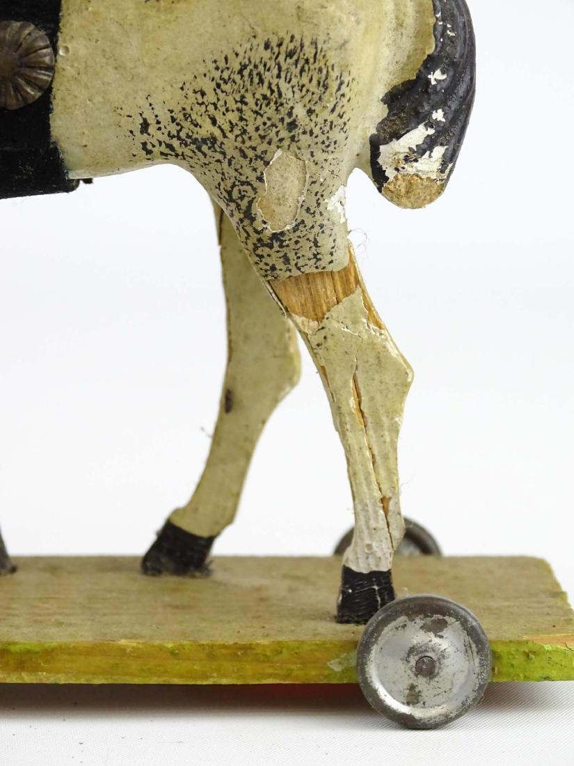 Composition Horse Pull Toy - 8