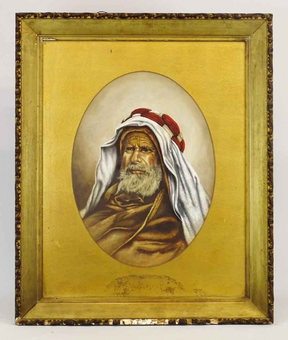 Orientalist School, 19th c. Portrait Of A Man