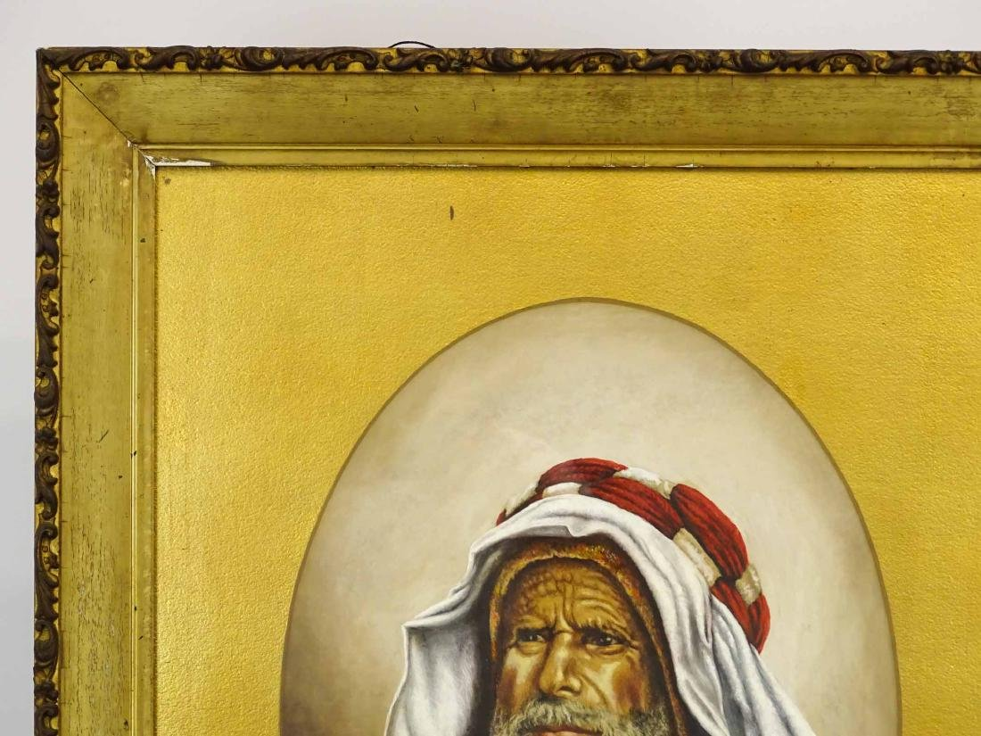 Orientalist School, 19th c. Portrait Of A Man - 3