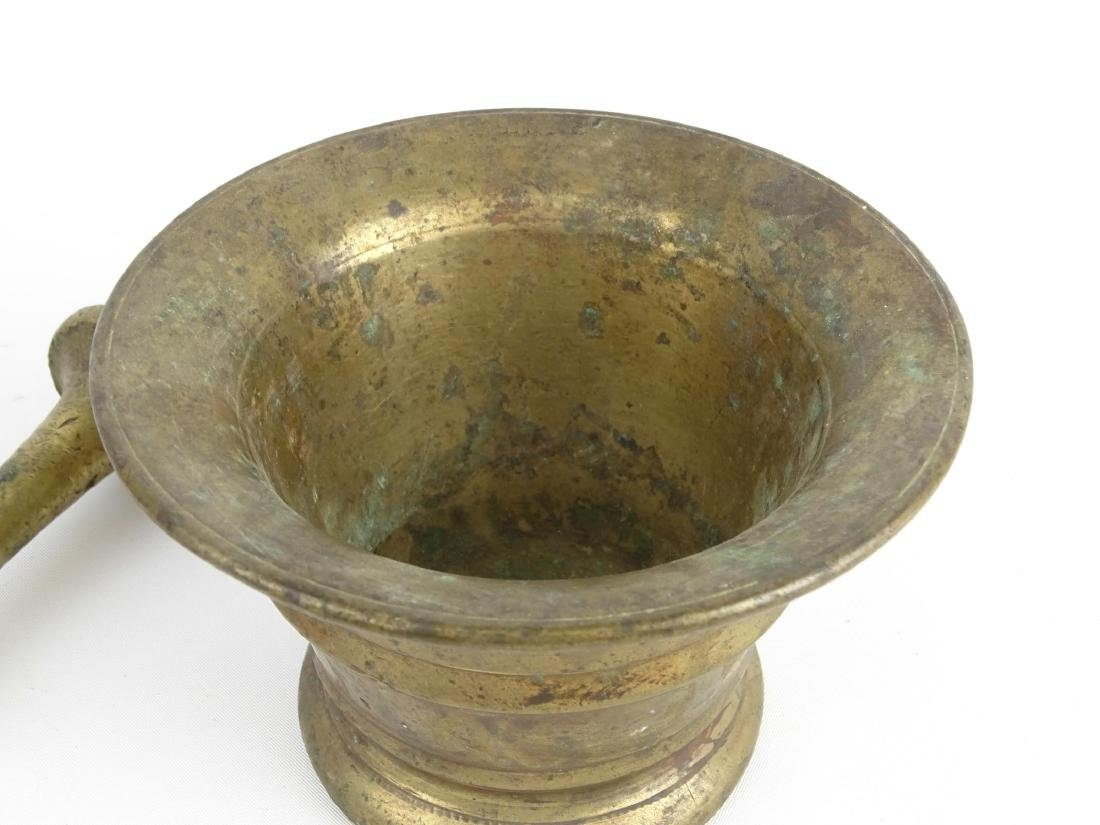 18th c. Brass Mortar & Pestle - 3