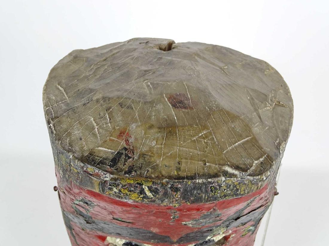 Carved Wooden Tribal Mask - 3