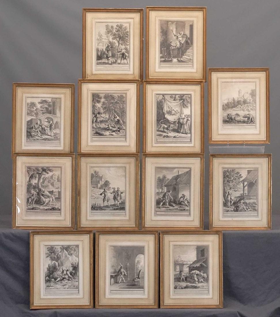 La Fontaine, Set (13) Jean-Baptiste Prints