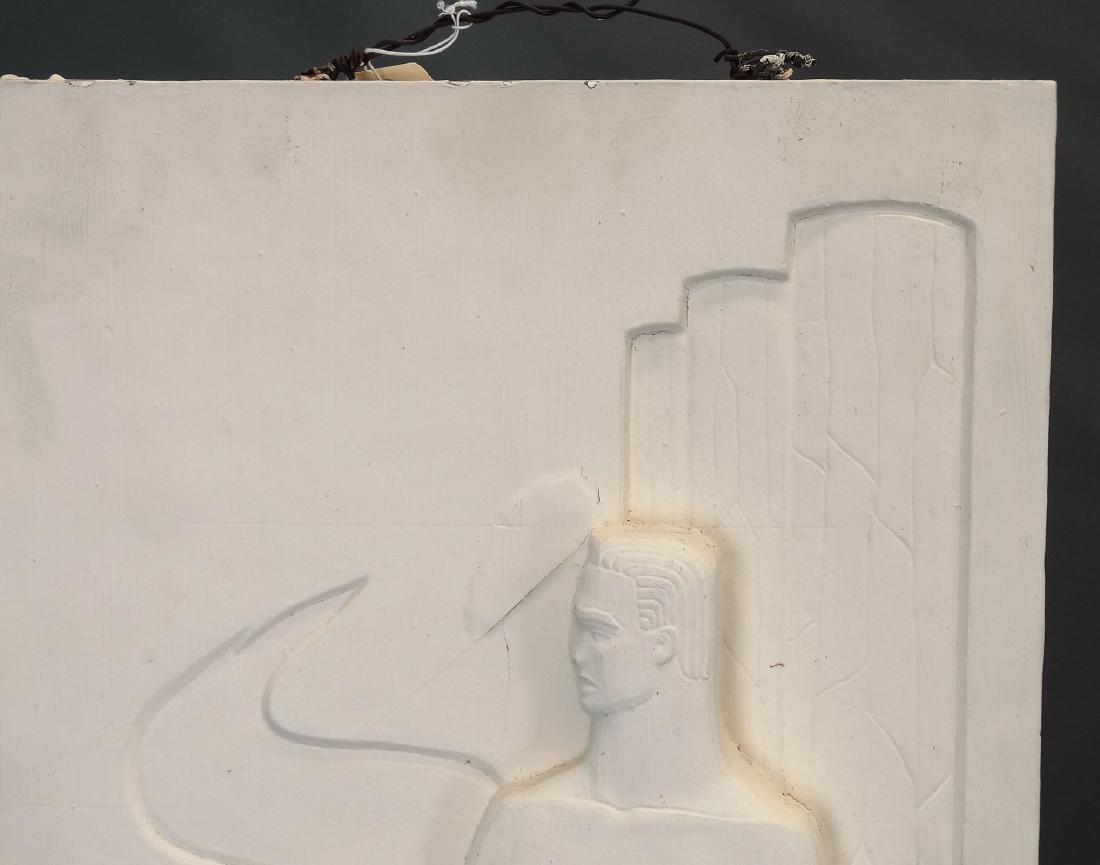 Pair Art Deco Plaster Plaques - 2
