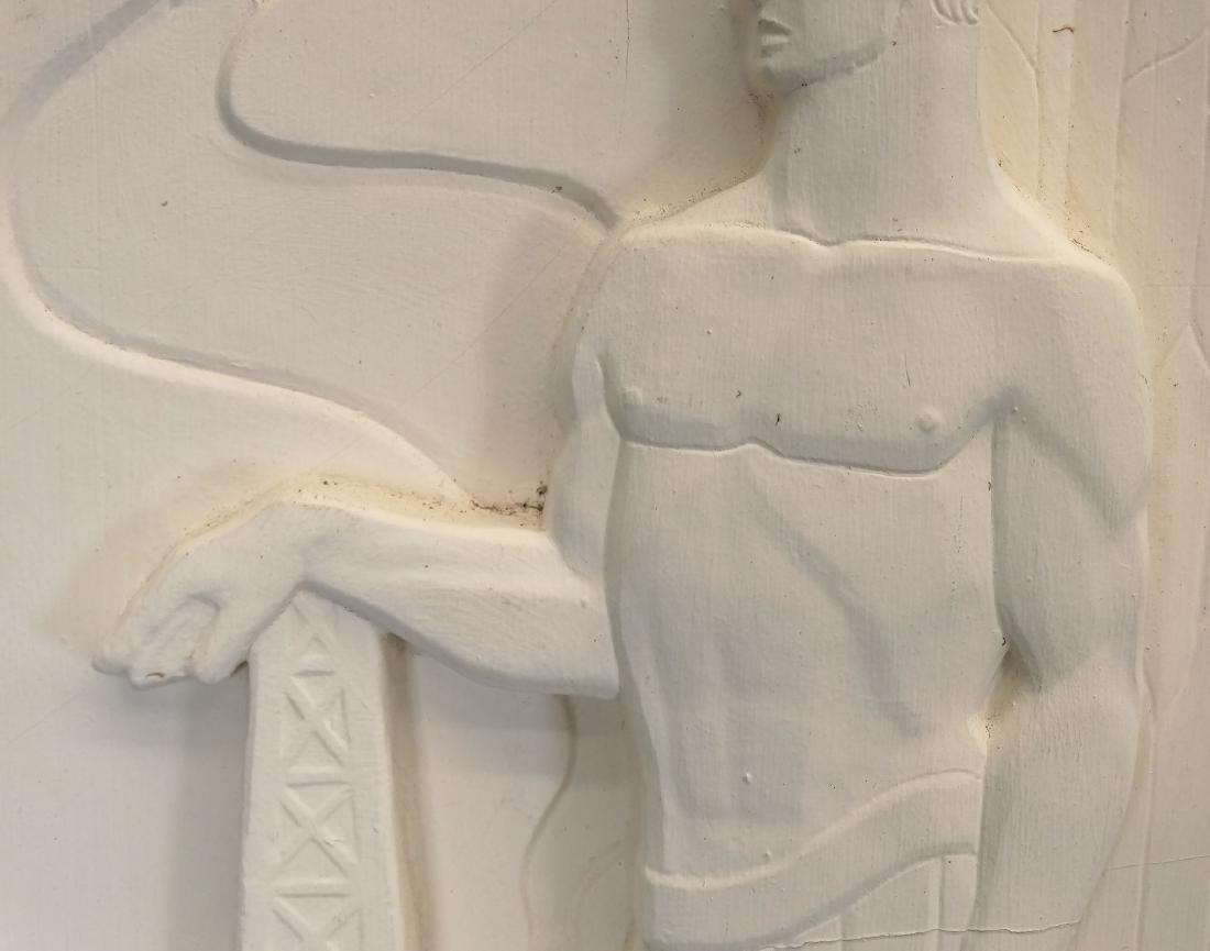Pair Art Deco Plaster Plaques - 3