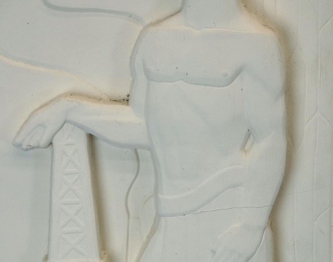 Pair Art Deco Plaster Plaques - 4