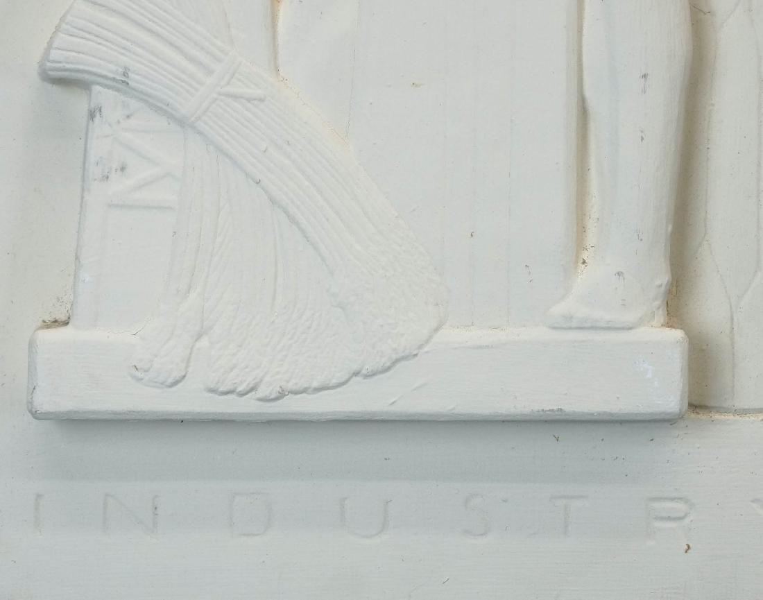 Pair Art Deco Plaster Plaques - 5