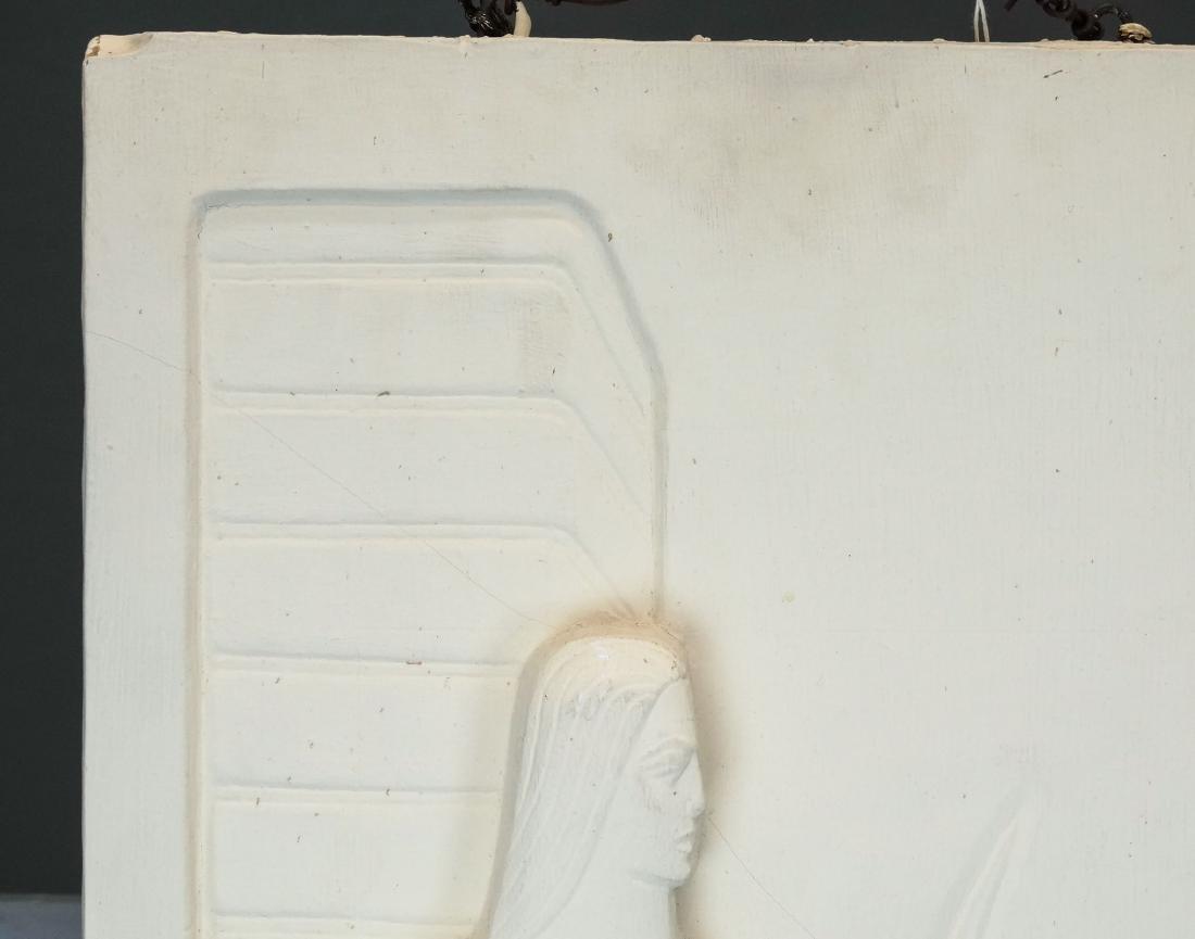 Pair Art Deco Plaster Plaques - 6