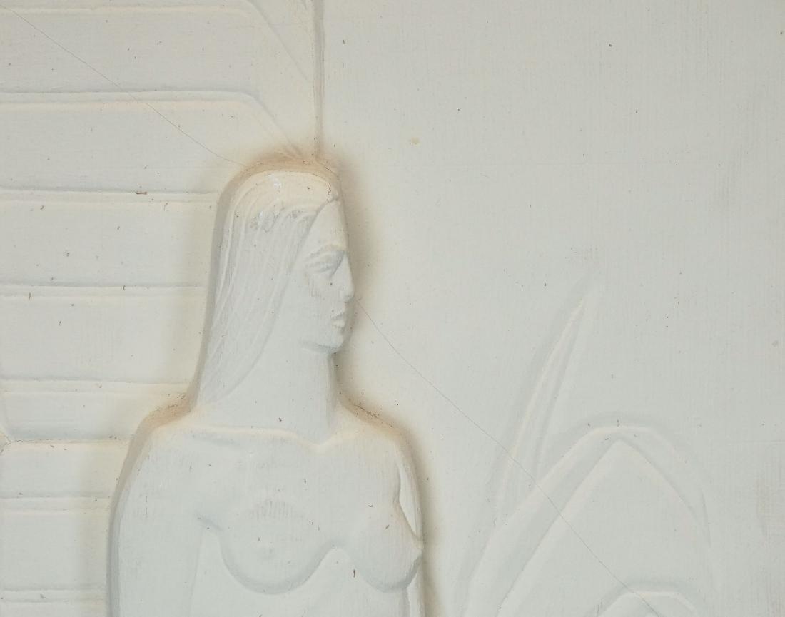 Pair Art Deco Plaster Plaques - 7