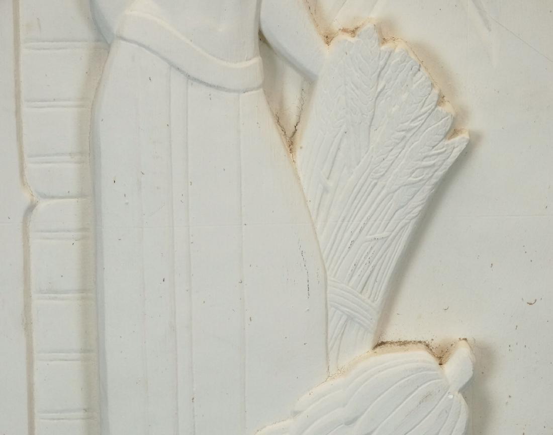 Pair Art Deco Plaster Plaques - 8