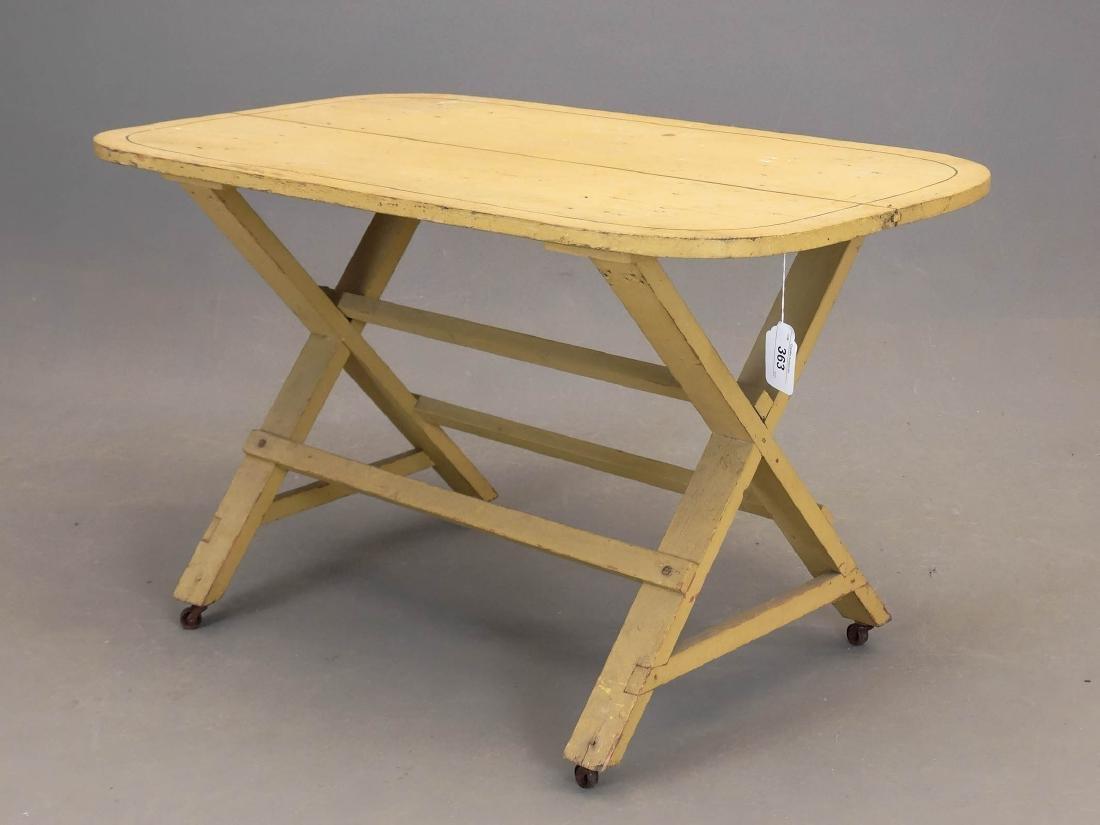 19th c. Sawbuck Table