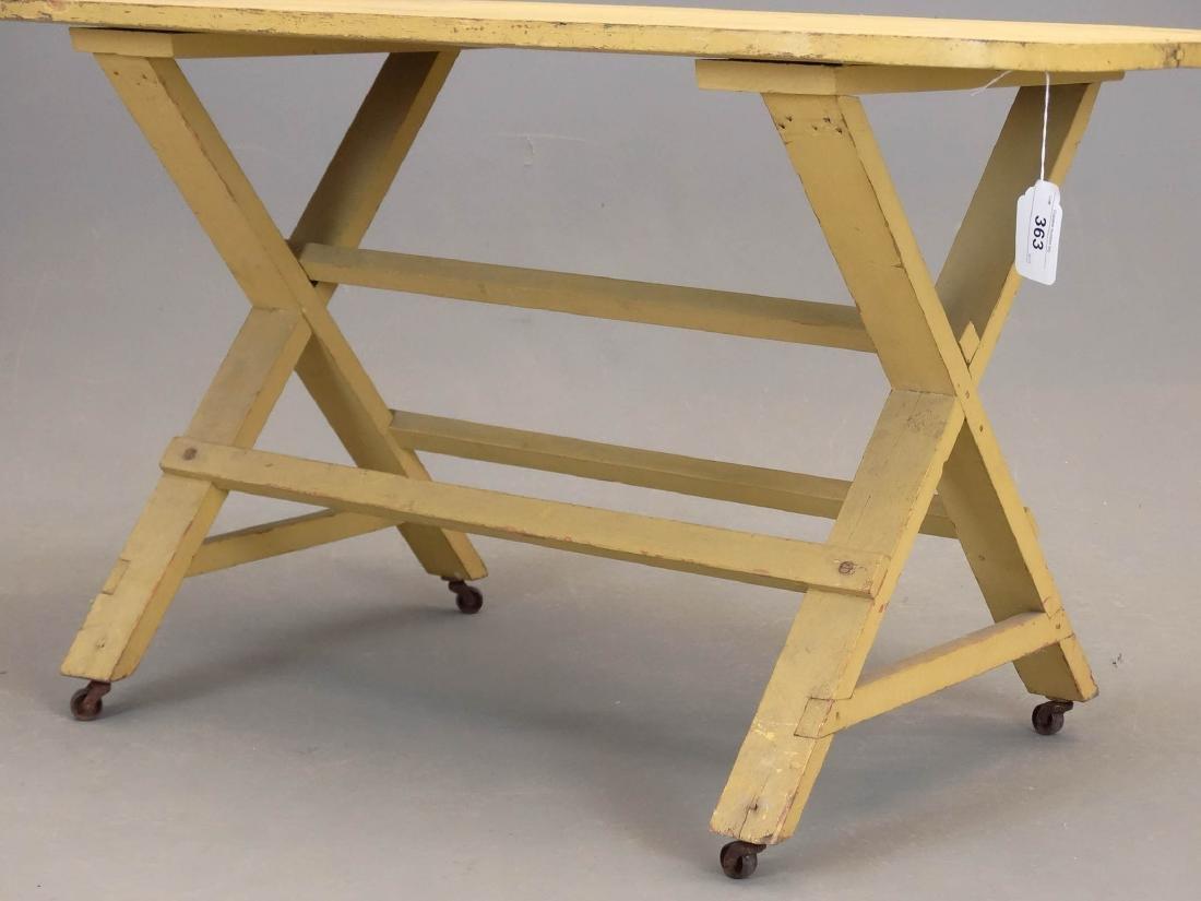 19th c. Sawbuck Table - 3