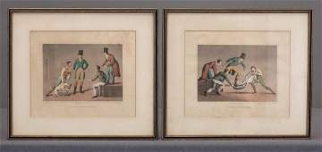 Pair Early English Sporting Prints